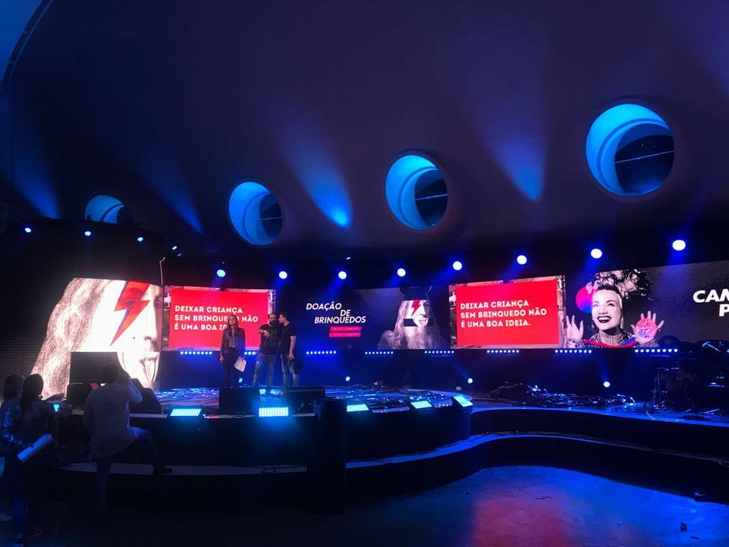 Iluminação profissional para evento