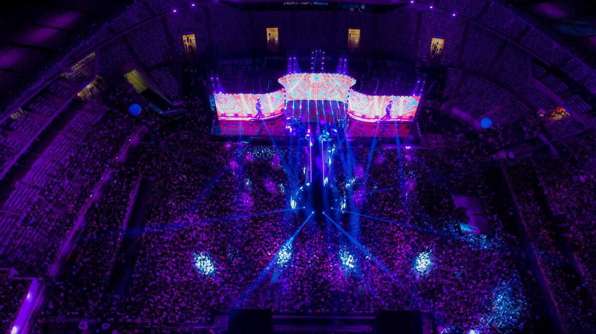 Iluminação e painel de led profissional para evento